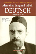 Mémoires du grand rabbin Deutsch : Limoges 1939-1945