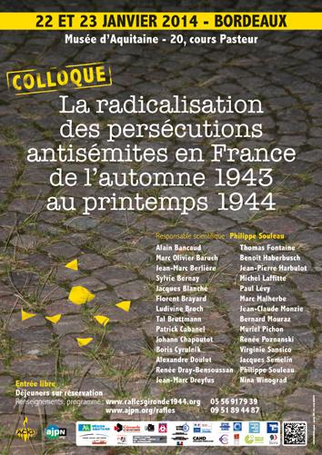 La radicalisation des persécutions antisémites en France de l'automne 1943 au printemps 1944